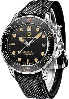 PAGANI DESIGN 007 Seamaster Orologi subacquei automatici da uomo, movimento giapponese NH35A, cinturino in acciaio inossid...