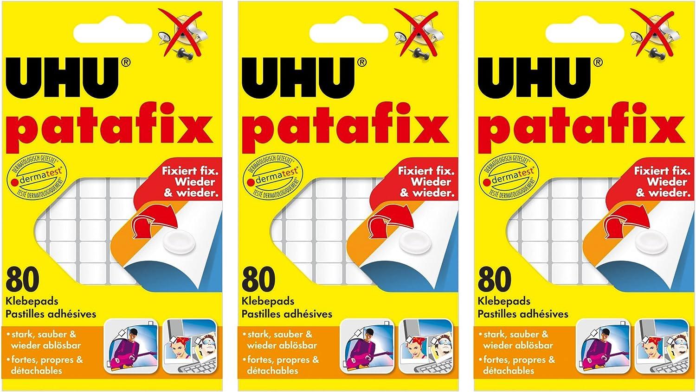 20 x UHU patafix weiß, wieder ablösbare Klebepads, 20 x 20 Stück ...