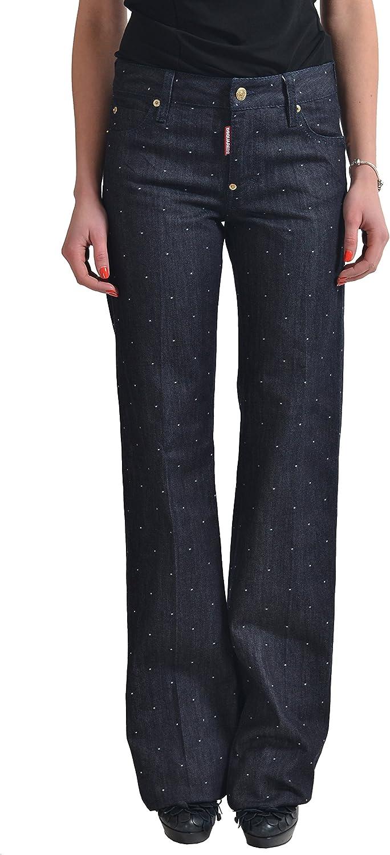 Dsquared2 Women's Dark bluee Straight Leg Jeans US 4 IT 40
