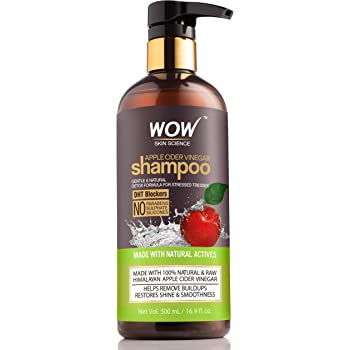 WOW Skin Science Apple Cider Vinegar Shampoo, 500 ml
