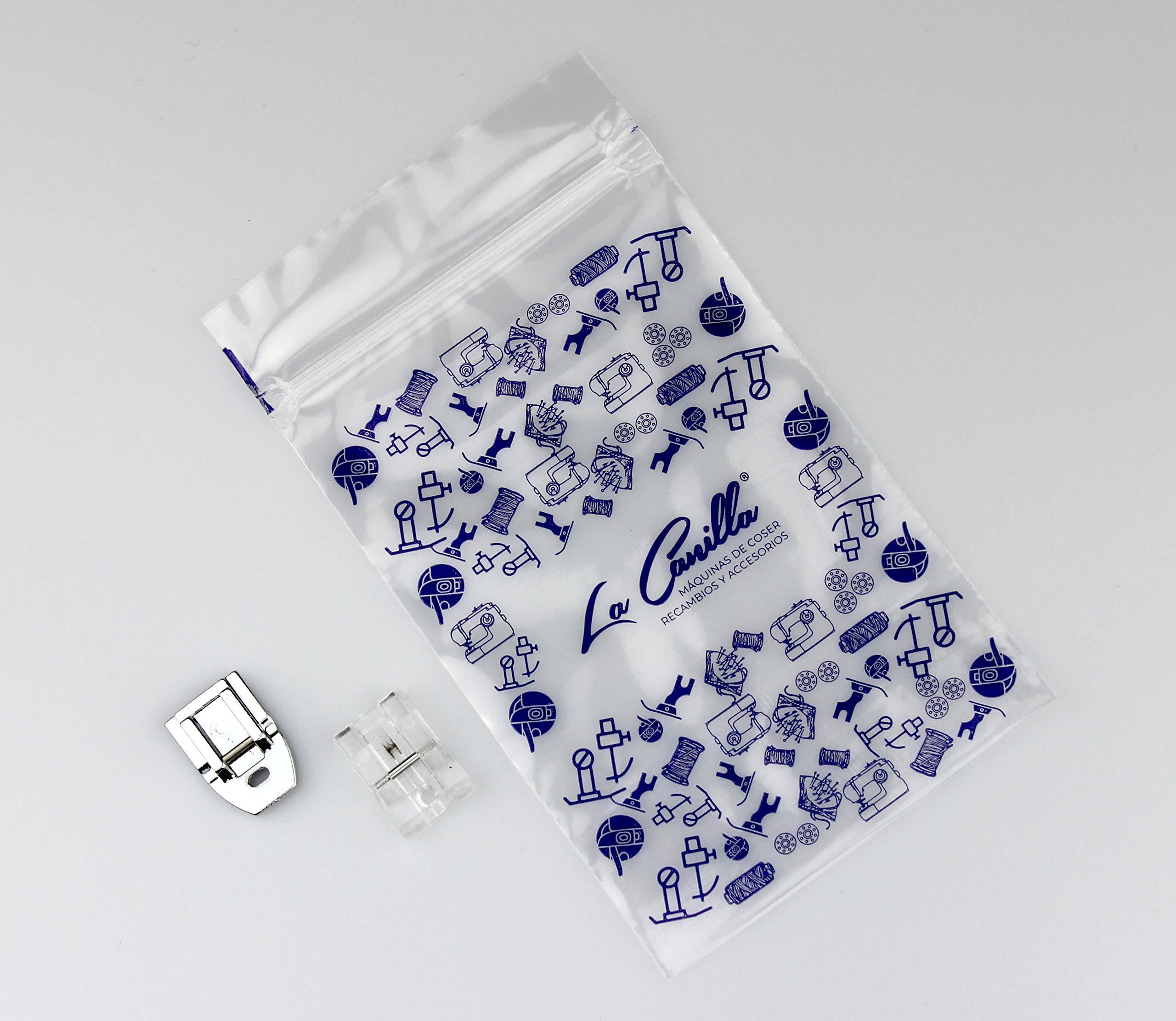 La Canilla ® - Kit 2 Prensatelas de Cremalleras Invisibles para Máquinas de Coser Alfa, Singer, Brother, Juki, Lidl (Snap-On) Universales: Amazon.es: Hogar