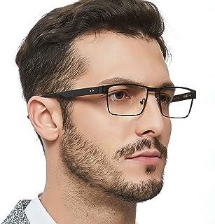 OCCI CHIARI Men Rectange Optical Eyewear Frames With Non-Prescription Clear Lenses