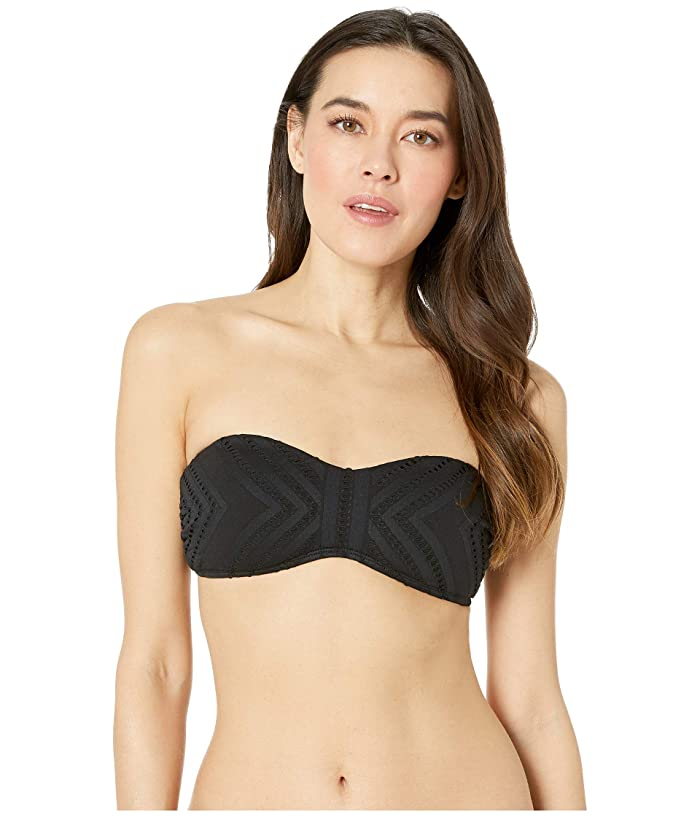 Kenneth Cole Upon the Shore Underwire Bandeau Bra (Black) Women