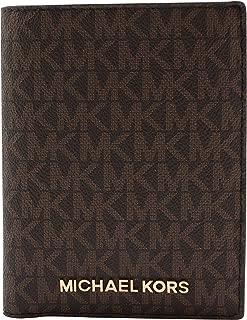 Michael Kors Jet Set Travel Passport Holder Wallet Case Brown PVC 2019