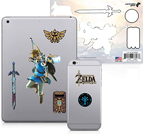 Controller Gear Officially Licensed The Legend of Zelda: Breath of the Wild - Character Tech Decal Pack - Bow and Arr...