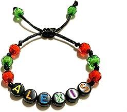 Braccialetto personalizzato ALEXIS con lettera dell'alfabeto; gioielli con nome, messaggio, logo, iniziale (reversibile) p...