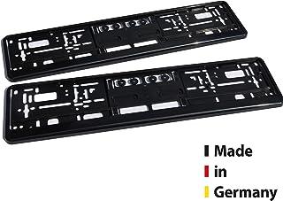 sunmondo Kennzeichenhalter Auto Schwarz, Nummernschildverstärker Kennzeichenrahmen 2er Set - Made in Germany