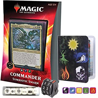Totem World Ikoria Commander 2020 Deck Symbiotic Swarm Bundle with 1 Life-Counter Spindowns, 1 Collectors Binders and 1 6pcs D6 Dice - MTG Lair of Behemoths Holiday Bundle Box Gift Set