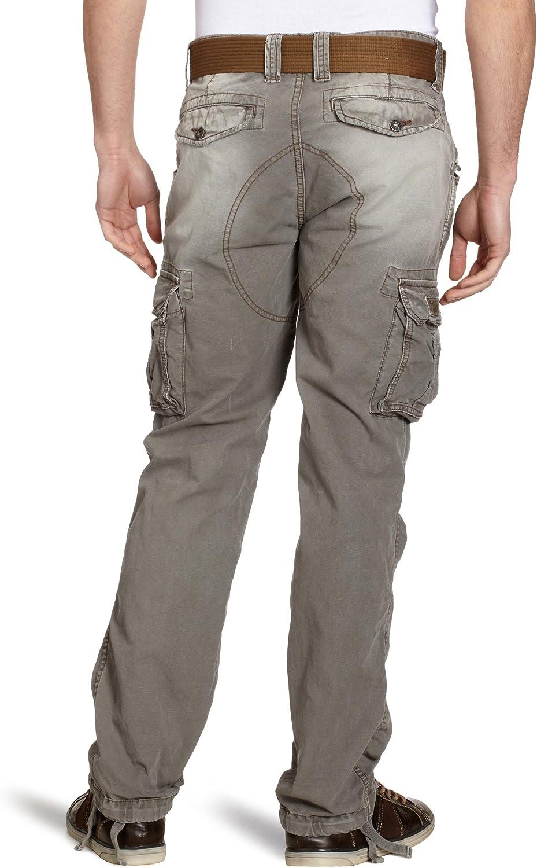 Schott Nyc 70Pk - Pantalon - Cargo - Homme Vert (Kaki)