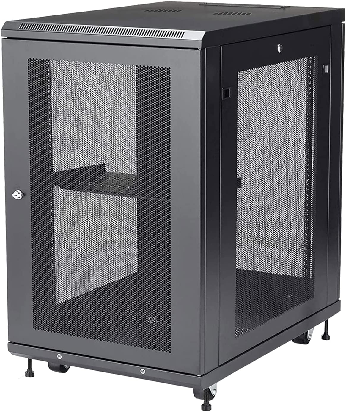 18U Server Rack Cabinet-4-Post Adjustable Depth,ApplytoNetworkWiringRoom,ComputerRoom,DataRoom,ControlCenter,Home,Office,etc.SoldbyFerruNet