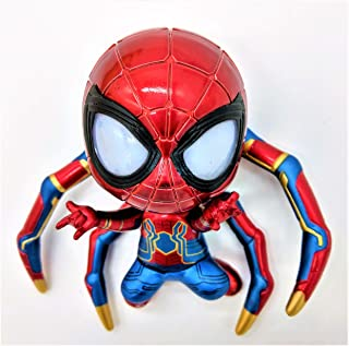 Prodigy Toys Spiderman Action Figure with Iron Spider Armor in Battle Mode Made Complete with LED Eyes and Magnetic Feet (Batteries Included)