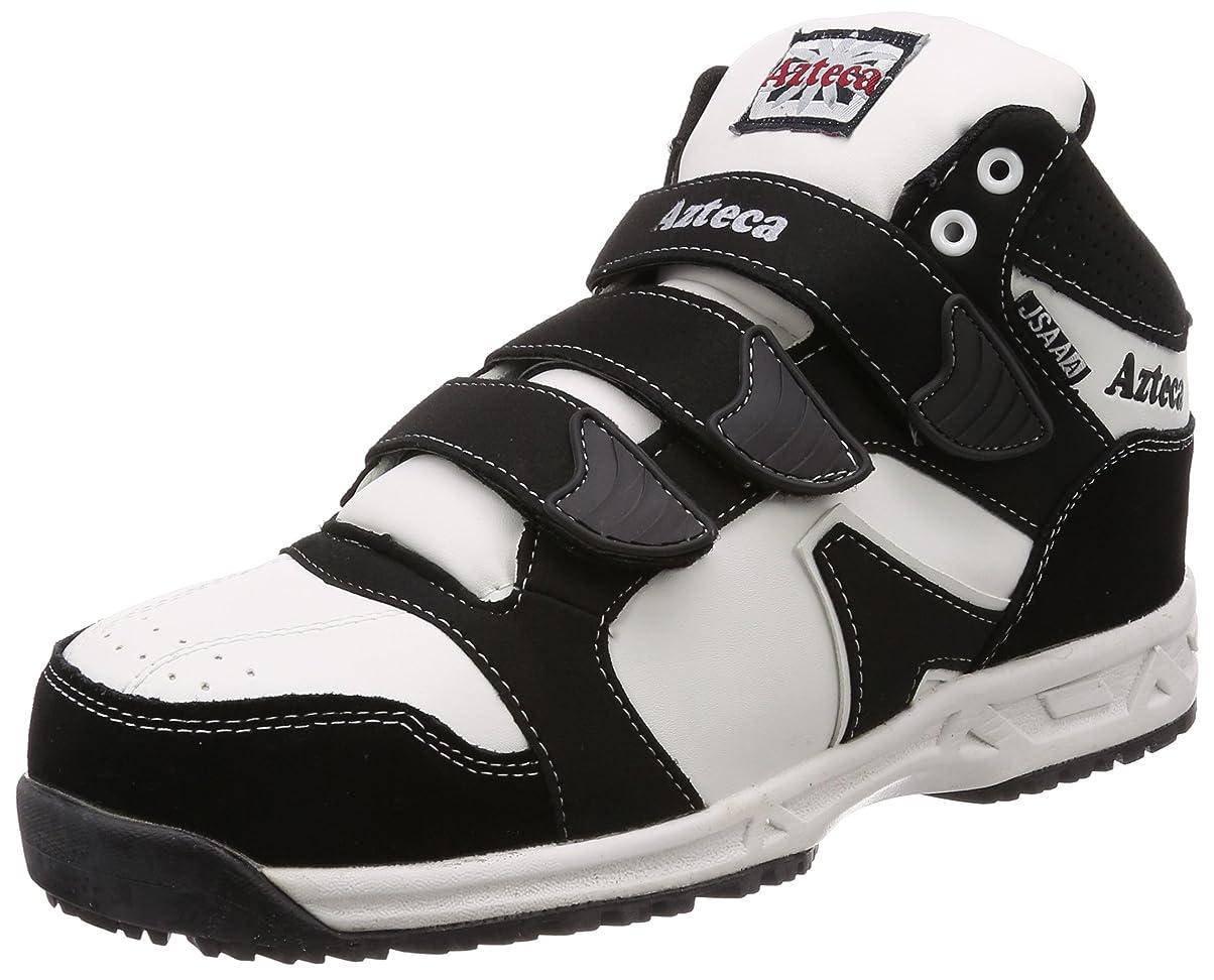 例示する子猫権限鋼製先芯入り 作業靴 先芯部床革 ハイカット 紐?マジックタイプ 3E ATX-230 メンズ