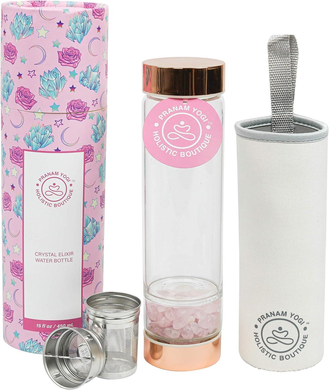 PRANAM YOGI Crystal Water Bottle Ranking TOP7 - Max 85% OFF Rose Gemstone Infused Quartz