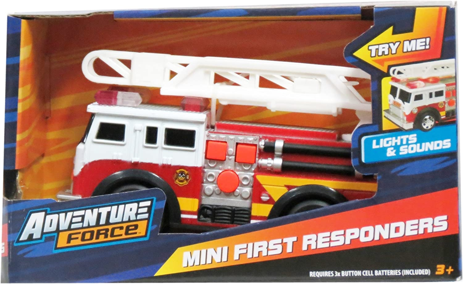 Mini First Responders Fire Engine with Ladder Lights & Sounds