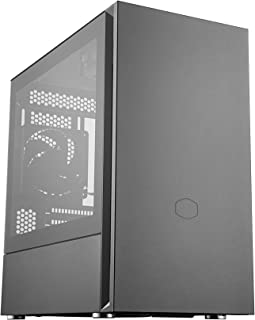 Cooler Master Silencio S400 Micro-ATX Mini Tower Case with Tempered Glass Side Panel Sound-Dampened Side Panel - Black - M...