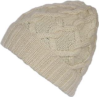 Alparino Ladies Snake Cable Alpaca Wool Hat-100% Handmade Alpaca Superfine Knit
