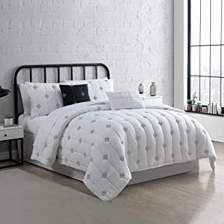 Amrapur Overseas 5-Piece Eve Embroidered Garment Washed Comforter Set, King, Ivory