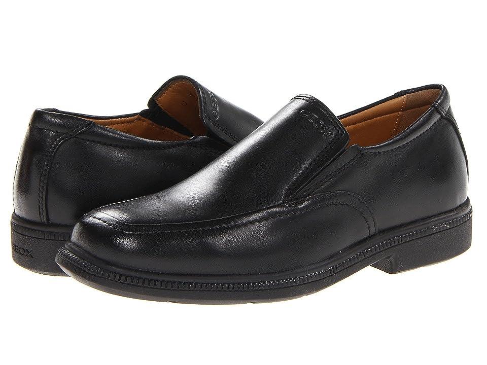 Geox Kids Jr Federico 2 (Little Kid) (Black) Boys Shoes