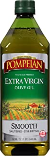 Pompeian Smooth Extra Virgin Olive Oil, First Cold Pressed, Mild and Delicate Flavor, Perfect for Sauteing and Stir-Frying...