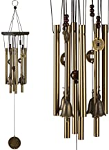 xxschy Retro Wind Chimes, 25 Inches Pure Hand-Made Metal Musical Wind Bells with 8 Bronze Aluminum Tubes, Mobile Wind Catcher Romantic Wind-Bell for Home, Party, Festival Decor, Garden Decoration