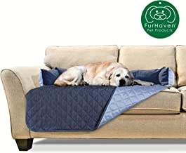Furhaven Pet Furniture Cover   Two-Tone Reversible Water-Resistant Quilted Living Room Furniture Cover Protector Pet Bed for Dogs & Cats - Available in Multiple Colors & Styles