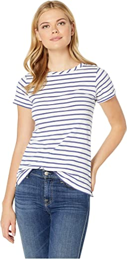 Cream Blue Stripe