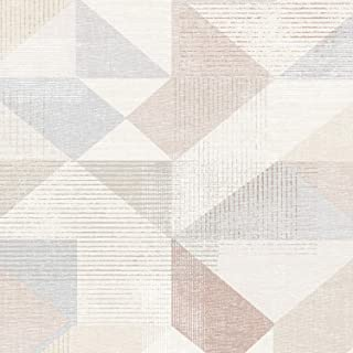 Norwall GX37656 Prepasted Vinyl Wallpaper, Pink, Blush Rose, Beige