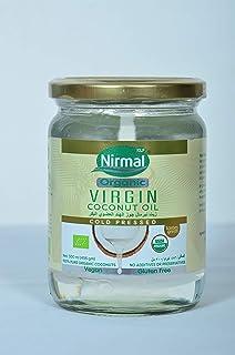 KLF NIRMAL Organic Raw Virgin Coconut Oil (Glass Bottle), 500 ml