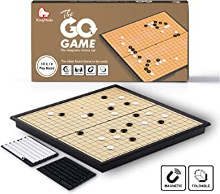 KingMade Travel Magnetic Go Board Game Set with Magnetic Plastic Stones and Go Board - Weiqi Portable Korean Game (11 x 11 Inches)
