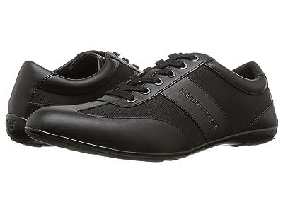 Emporio Armani Leather/Nylon Sneaker (Black) Men