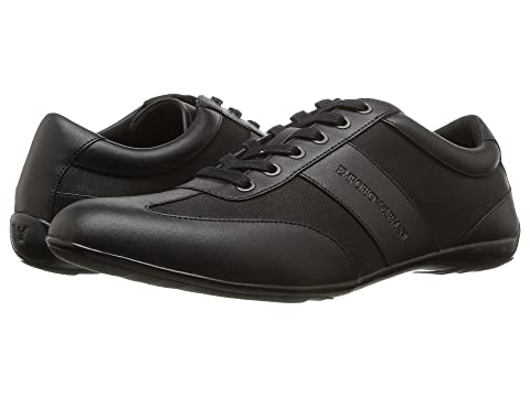 Emporio Armani Leather/Nylon Sneaker