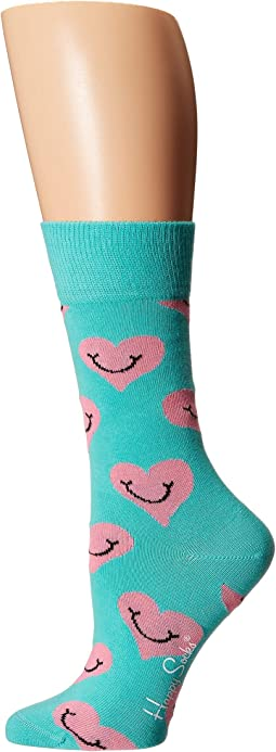 Smiley Heart Sock