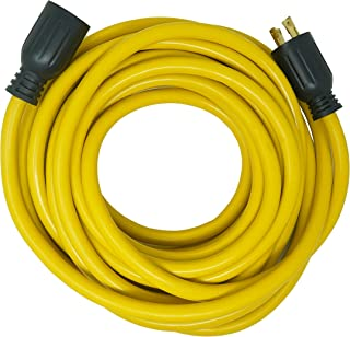Southwire 65173040 40-Foot 30Amp Generator Cord, 10-Gauge Heavy Duty Electrical Power Cable with L14-30 Locking Plug, 125V / 250V, Yellow, Black