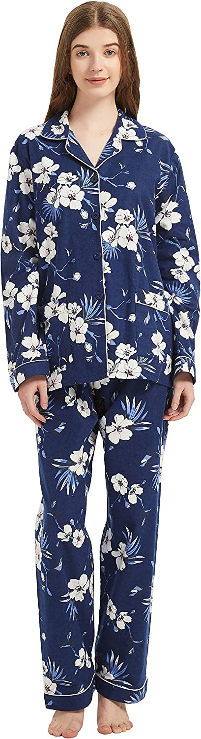 GLOBAL Comfy New product type Year-end annual account Pajamas for Women 2-Piece Cozy Flannel and Pj Warm