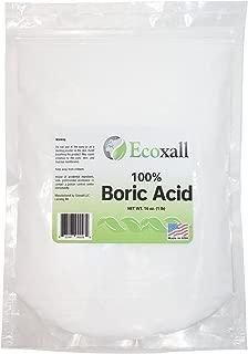 Ecoxall - Fine Granular Boric Acid Powder 99.9% Pure Anhydrous 1 lb. Bag