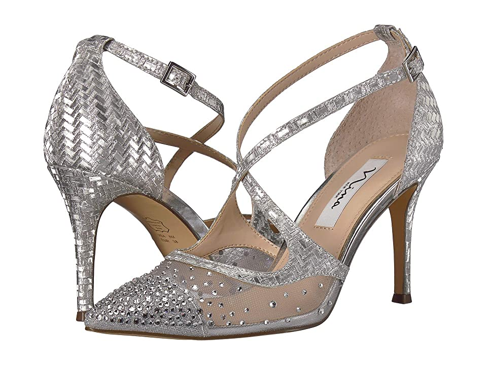 Nina Conetta (Silver Glitter Weave) High Heels