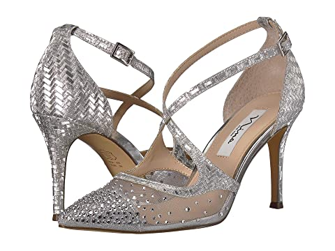 Nina Shoes , SILVER GLITTER WEAVE
