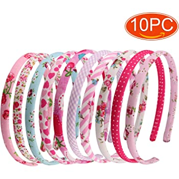 10pcs Plastic Hair Band Hoop Headband for DIY Hair Accessories Crafts 10mm