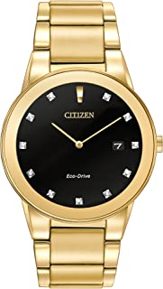 Citizen Mens Analogue Classic Solar Powered Watch with Stainless Steel Strap AU1062-56G