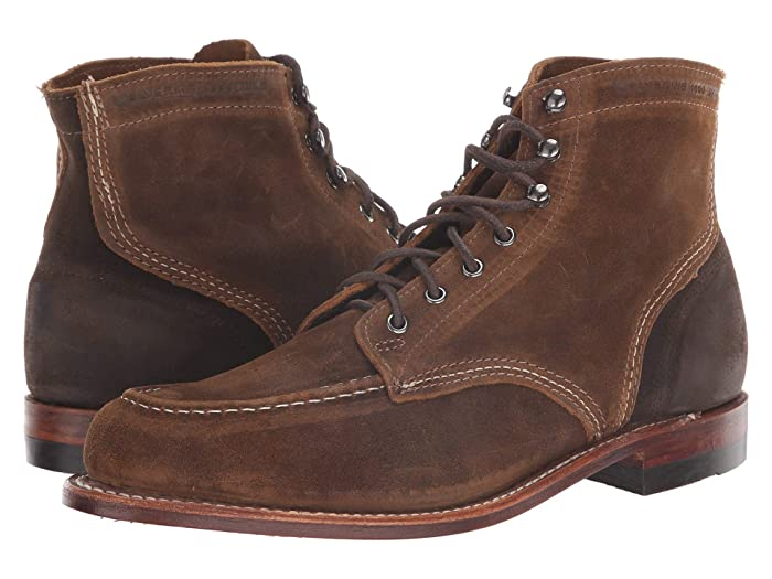 Wolverine Heritage  1000 Mile 6 1940 Boot (Dark Tan Suede) Mens Dress Lace-up Boots