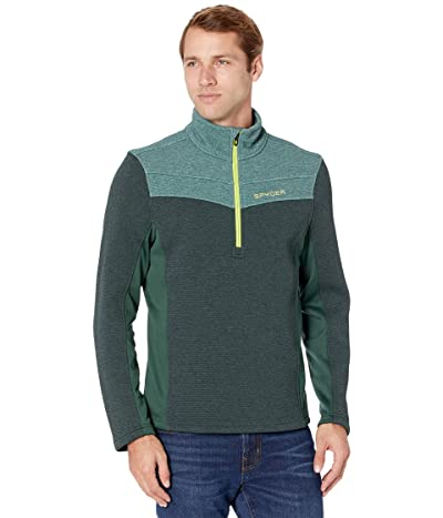 Spyder Encore 1/2 Zip Fleece Jacket (Forest/Ghost) Men