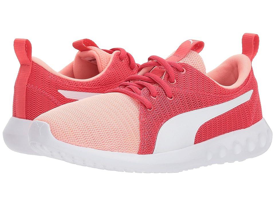 Puma Kids Carson 2 (Big Kid) (Soft Fluo Peach/PUMA White) Girls Shoes