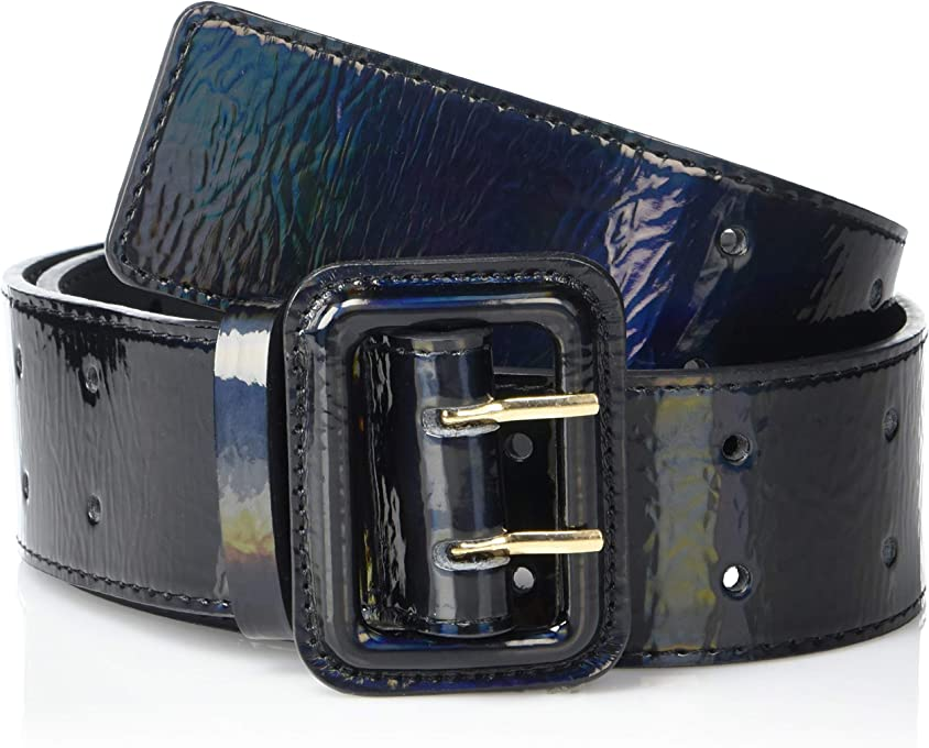 The Drop Women's @lisadnyc Patent Faux Leather Wide Belt