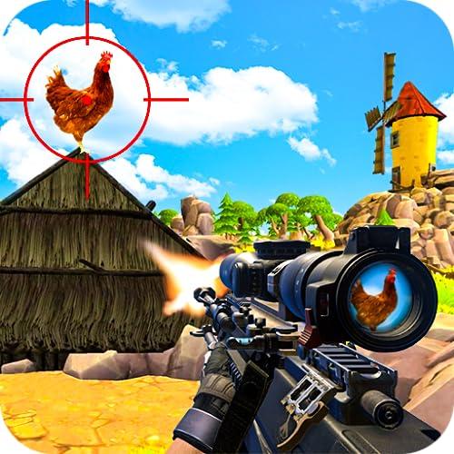 Chicken Shooter Spiel 3D Gun Simulator FPS Shooting Game