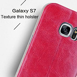 Protective Case Compatible with Samsung Compatible Samsung Galaxy S7 / G930 Crazy Horse Texture Horizontal Flip Leather Case with Holder Phone case (Color : Brown)