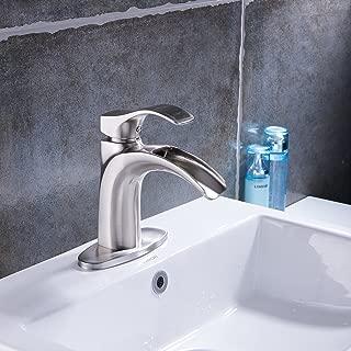 Yodel Single Handle Waterfall Bathroom Sink Faucet (Brushed Nickel)