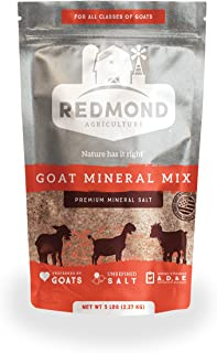 REDMOND Goat Mineral Supplement Mix, Unrefined Salt