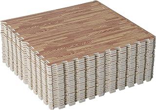HOMCOM Alfombra Puzle Niños 24 Piezas Alfombra Puzzle para Niños o Gimnasio con 24 Piezas Antideslizantes de Goma Espuma EVA