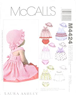 McCall's Patterns M4424OSZ M4424 Infants' Dresses, Rompers, Panties and Hat