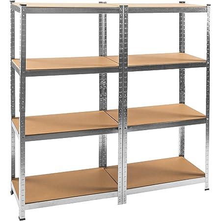 TecTake Scaffale da officina armadio magazzino garage - modelli differenti - (con 8 ripiani | no. 402171)